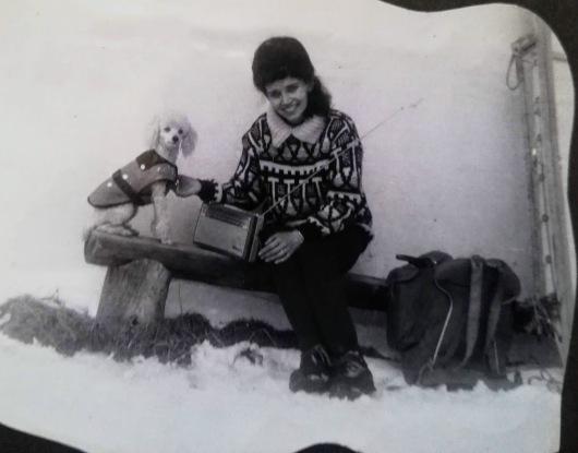 mamma på ski
