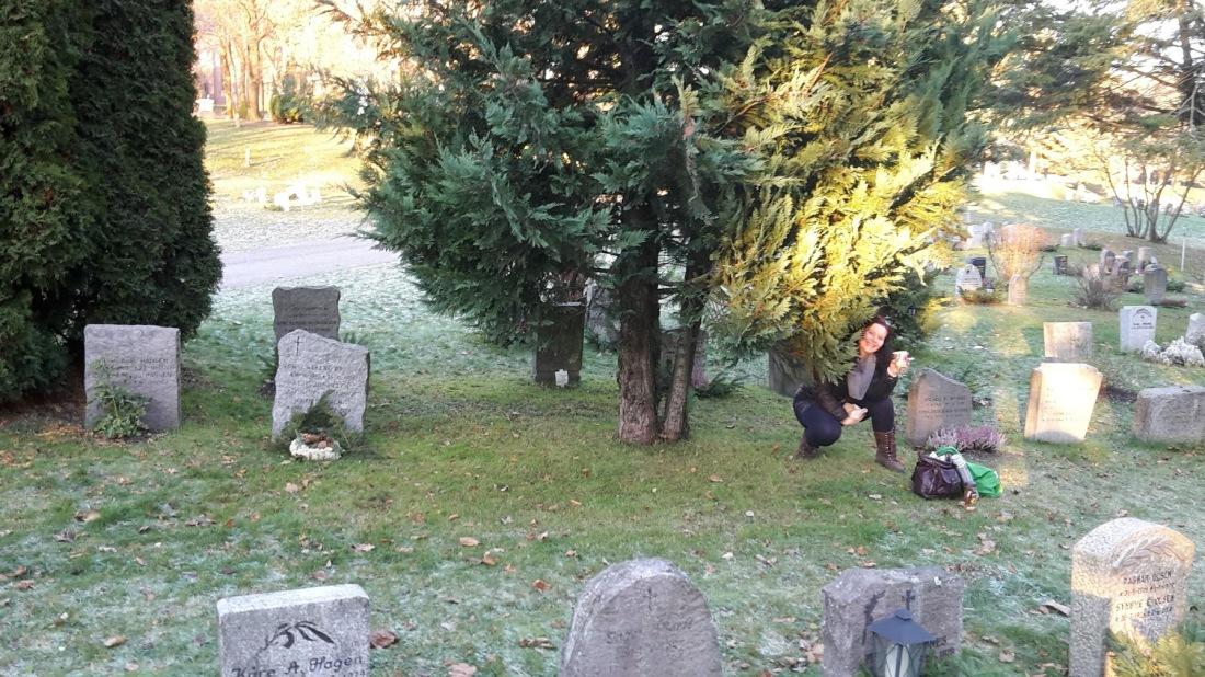 grav til bror og mamma